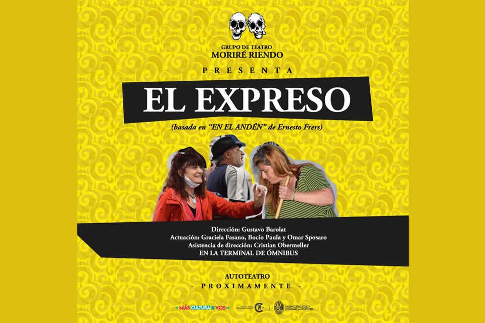 Autoteatro El Expreso en la terminal de omnibus
