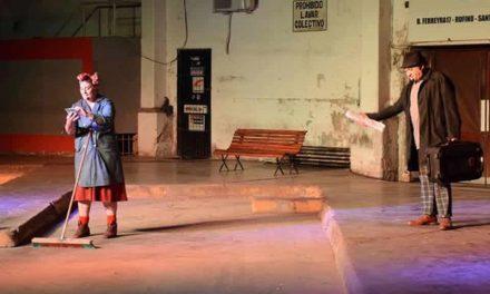 Se estrenó la obra El Expreso en la terminal de Rufino