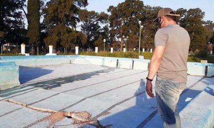 Avanzan las obras en el Parque Balneario de Rufino