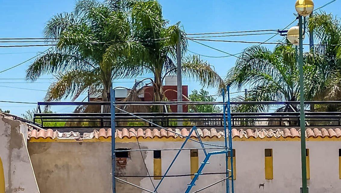 Avanza a buen ritmo la obra del parque municipal Angel Bulgheroni de Rufino