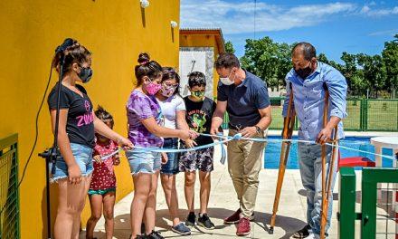 En Lazzarino inauguraron la primera pileta comunal
