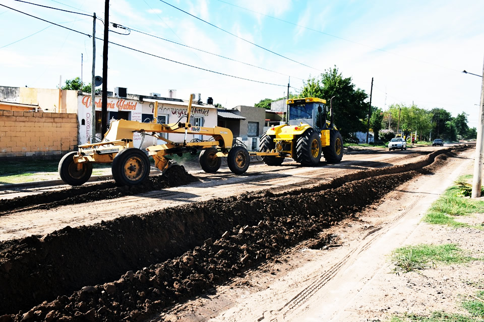 Continúan los trabajos del Plan 50 del municipio de Rufino