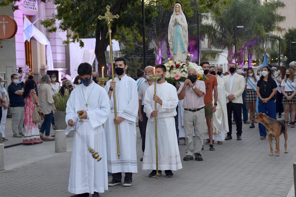 Patronales en Rufino en Honor a María de Lourdes