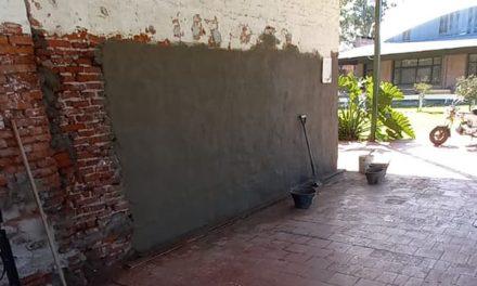 Continúan las obras de conservación del  monumento histórico de la familia de los fundadores de nuestra ciudad