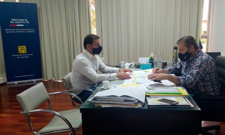 El intendente de Rufino viajó a la capital santafesina para gestionar obras necesarias