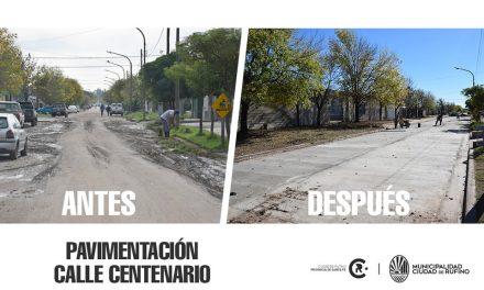 Pavimentación en calle Centenario