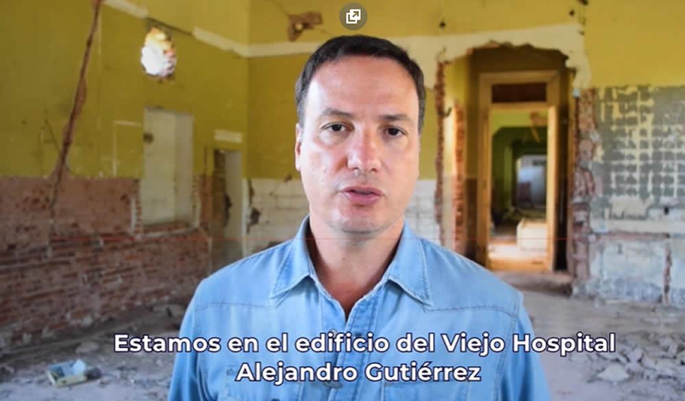 El senador Enrico pidió al gobierno provincial retomar la obra ante el abandono del viejo hospital de Venado Tuerto