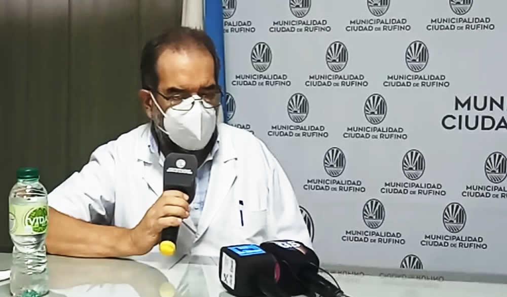Silvio Teixidó aseguró que la situación covid en Rufino se encuentra «estable»