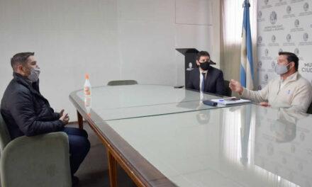 El intendente Lattanzi se reunió con el representante del Frigorífico Marú por la suspensión de las exportaciones de carne