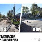 Nueva cuadra de pavimento en calle Carballeira