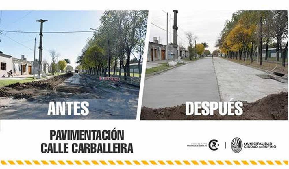 Nueva cuadra de pavimento en Carballeira entre Garin y Saavedra