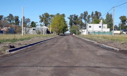 Avanza la construcción de cordón cuneta en el sector oeste de la ciudad