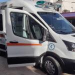 Nueva unidad de terapia intensiva móvil del servicio cooperativo