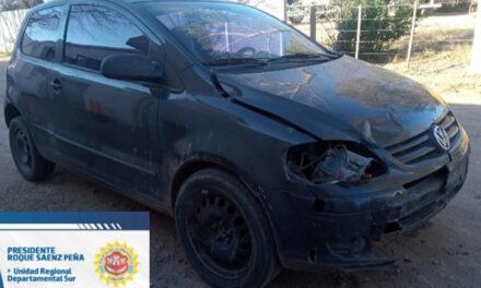 Grave accidente y fuga en Barrio Gral San Martín de Rufino deteniendo en Rosales al propietario del auto