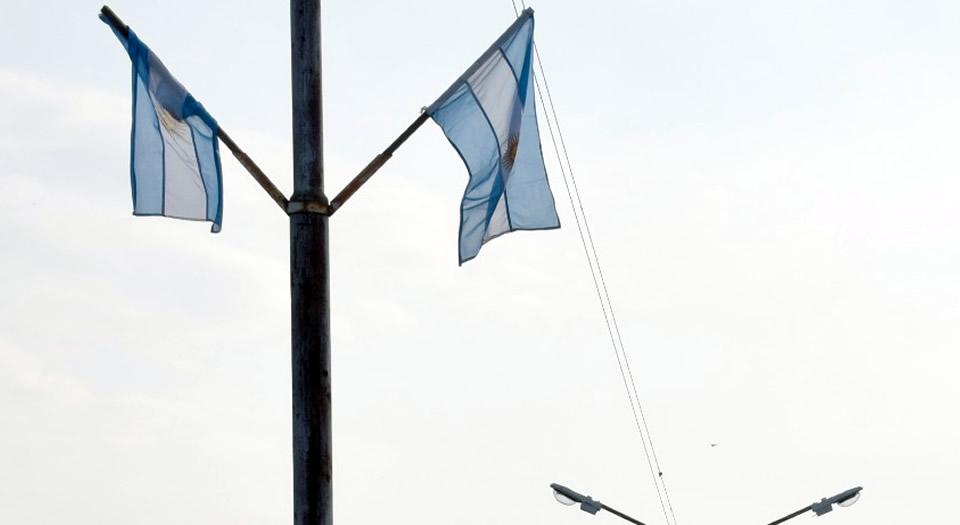 Banderas argentinas sustraídas en Bv 9 de Julio