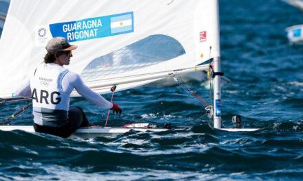 El rufinense Francisco Guaragna se ubicó décimo tercero en la primer regata de la clase Laser Standard