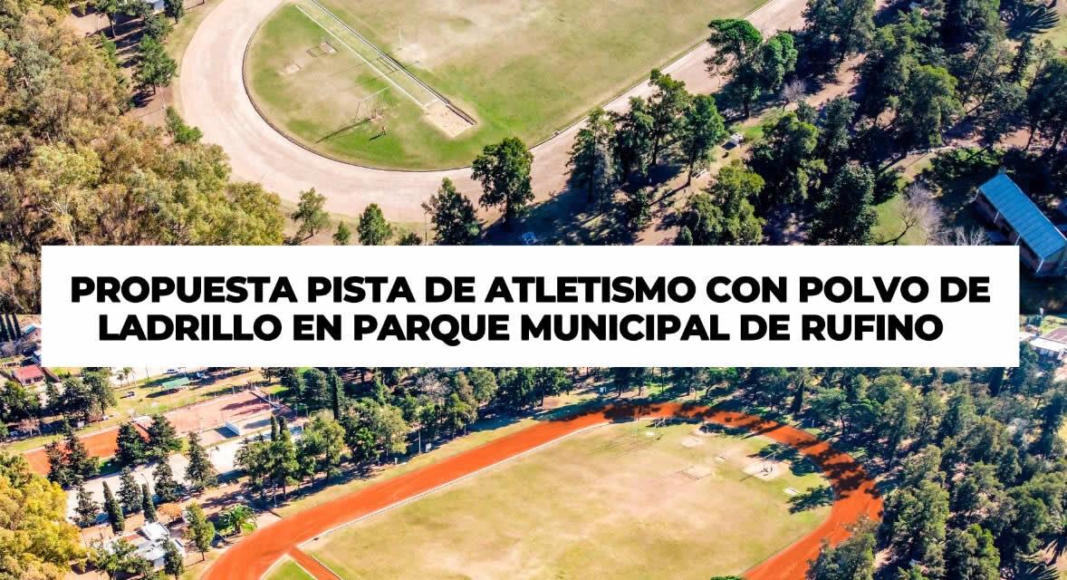 Senador Enrico gestiona ante el gobierno provincial que la pista de atletismo del Parque de Rufino sea de polvo de ladrillo