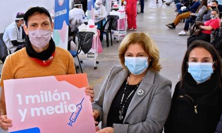 Un millón y medio de santafesinos vacunados contra el Covid-19