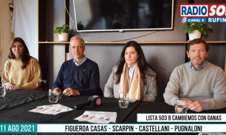 Figueroa Casas, Scarpin y Pugnaloni visitaron Rufino como precandidatos a Senador y Diputados por Juntos por el Cambio por Santa Fe