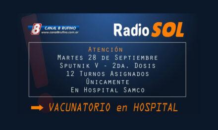 Este martes se vacunará en el hospital